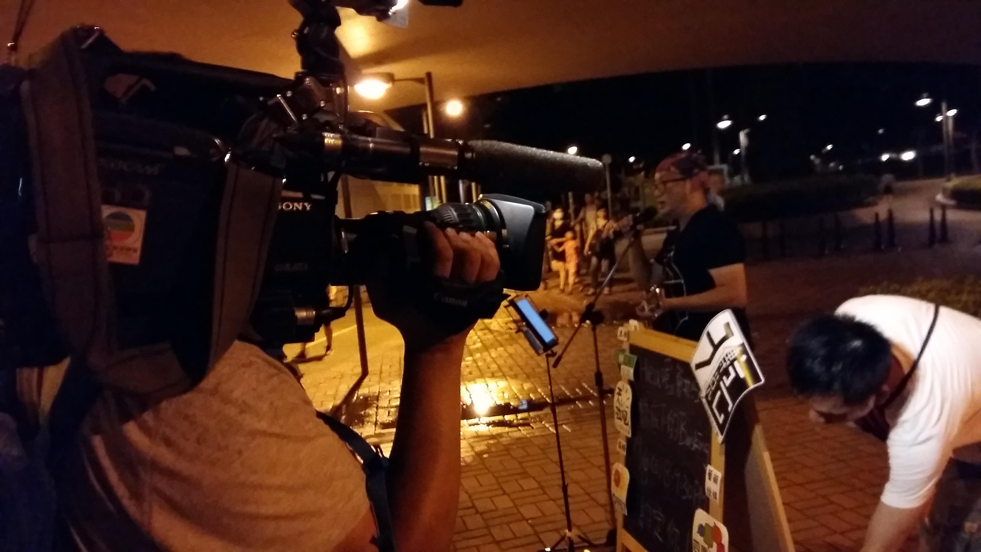 TVB明珠台採訪Hea唱會街頭表演